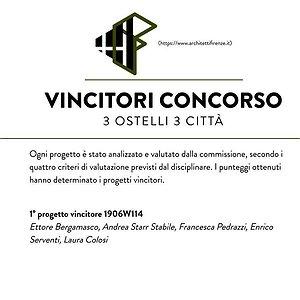 VINCITORI CONCORSO 3 OSTELLI 3 CITTA' @ARCHITETTIFIRENZE